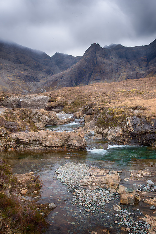 Fairy pools with Cullin mountains