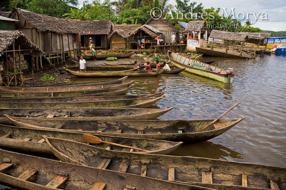 Malagasy Village at the River, Mananara, Madagascar Image by Andres Morya