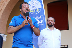 SALVINI E ALAN FABBRI<br /> MATTEO SALVINI A FERRARA