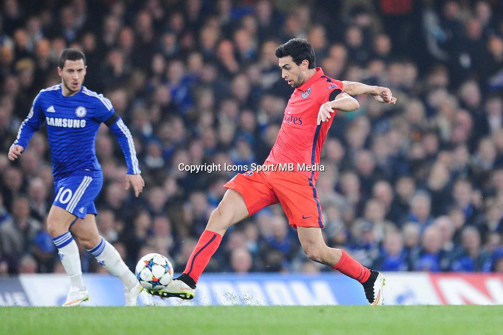Javier PASTORE - 11.03.2015 - Chelsea / Paris Saint Germain - 1/8Finale Champions League<br />Photo : Johnny Fidelin / Icon Sport