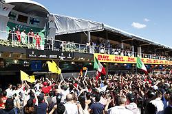 November 12, 2017 - Sao Paulo, Brazil - Motorsports: FIA Formula One World Championship 2017, Grand Prix of Brazil, .#77 Valtteri Bottas (FIN, Mercedes AMG Petronas F1 Team), #5 Sebastian Vettel (GER, Scuderia Ferrari), #7 Kimi Raikkonen (FIN, Scuderia Ferrari) (Credit Image: © Hoch Zwei via ZUMA Wire)