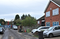 © Licensed to London News Pictures.18/11/2017.<br /> Orpington, UK.<br /> Homes in Cornwall Drive without a rubbish mountain.<br /> The infamous Waste4fuel rubbish site in Orpington is due to be totally clear of waste on Monday. Work began to clear the site from 27.000 tons of waste a year ago at Cornwall Drive, Now the site has about 27 tons of rubbish left to clear. Altogether the clearance cost of the waste mountain has come to around £4.5 million with most of the money coming from government and the Enviroment Agency.<br /> Photo credit: Grant Falvey/LNP
