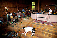 Waylon Speed recording an album at the Barn in Vermont.