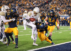 Oct 25, 2018; Morgantown, WV, USA; Baylor Bears wide receiver Josh Fleeks (21) scores a touchdown during the third quarter against the West Virginia Mountaineers at Mountaineer Field at Milan Puskar Stadium. Mandatory Credit: Ben Queen-USA TODAY Sports