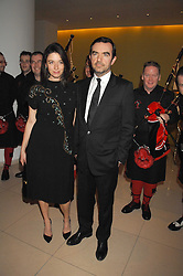 MARY McCARTNEY and SIMON ABOUD at 'Not Another Burns Night' in association with CLIC Sargebt and Children's Hospice Association Scotland held at ST.Martins Lane Hotel, London on 3rd March 2008.<br />