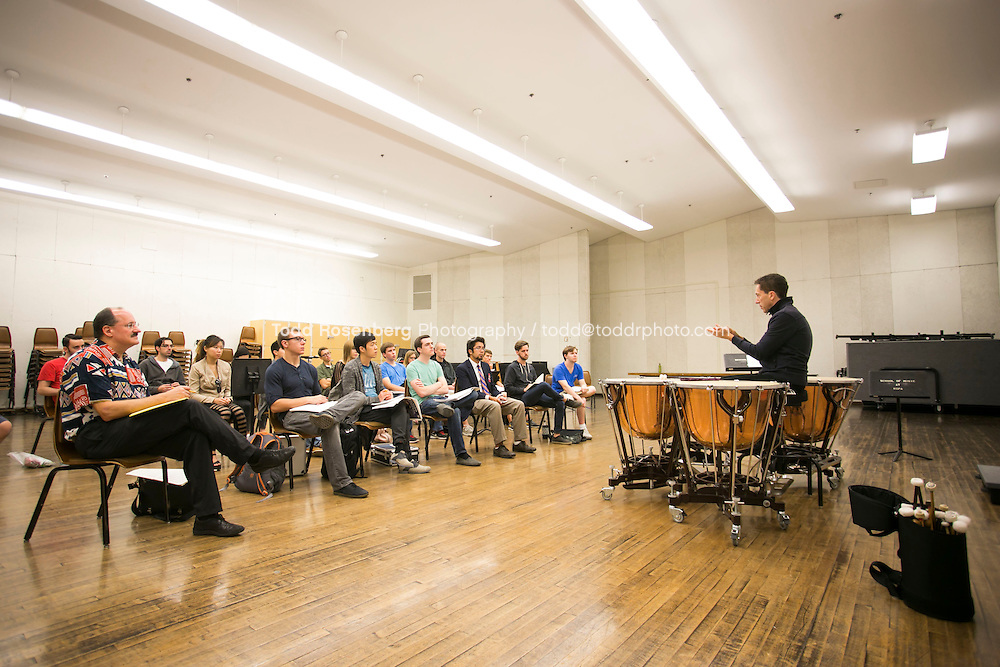 10/12/13 3:46:34 PM Chicago Symphony Orchestra Master classes at the University of Illinois in Champaign, Urbana. <br /> <br />  &copy; Todd Rosenberg Photography 2013