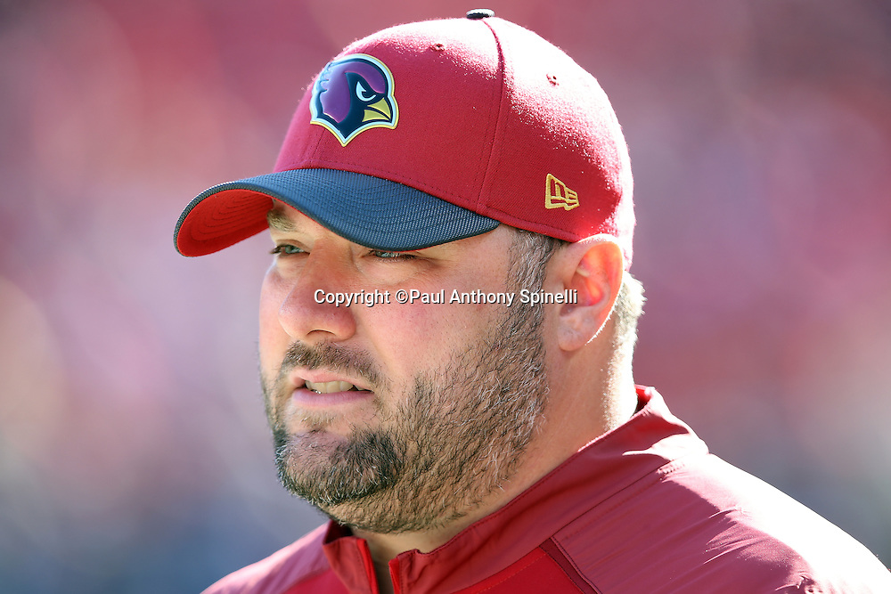 Arizona Cardinals defensive coordinator James Bettcher looks on from the sideline during the 2015 week 12 regular season NFL football game against the San Francisco 49ers on Sunday, Nov. 29, 2015 in Santa Clara, Calif. The Cardinals won the game 19-13. (©Paul Anthony Spinelli)