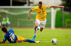 Gašper Koritnik of Celje vs Almin Kurtovič of Bravo during football match between NK Bravo and NK Celje in 13th Round of Prva liga Telekom Slovenije 2019/20, on October 5, 2019 in ZAK stadium, Ljubljana, Slovenia. Photo by Vid Ponikvar / Sportida