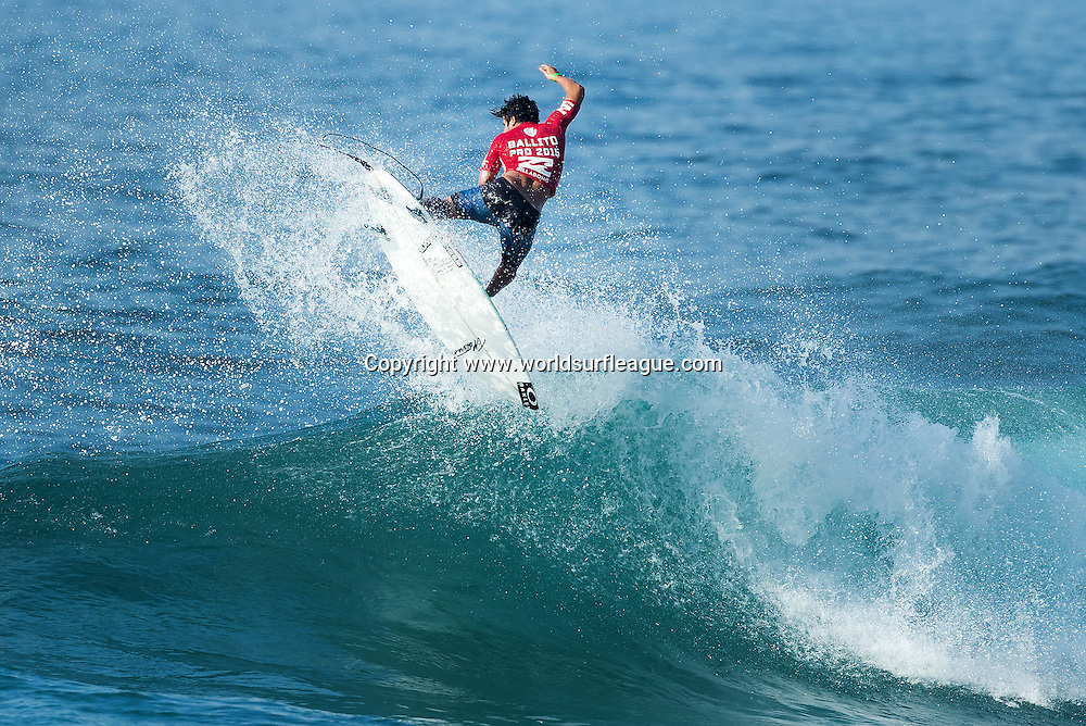 Italo Ferreira of Brasil (pictured) advanced into Quarter Finals of the Ballito Pro Presented by Billabong after winning both his Rounds 3 and 4 heats at Ballito, South Africa today.<br /> <br /> IMAGE CREDIT: WSL / Ballito Pro / Cestari<br /> PHOTOGRAPHER: Kelly Cestari<br /> SOCIAL MEDIA TAG: @wsl @theballitopro @kc80<br /> <br /> The Ballito Pro Presented by Billabong is an international surf and lifestyle event hosted in Ballito, the jewel of KwaZulu-Natal's North Coast.  This event is a strategic partnership between World Surf League (WSL) and the KwaDukuza Municipality, together with various public and private sector partners<br /> <br /> In 2015 Billabong took the baton from Mr Price, agreeing to carry on the proud legacy of the world's longest running progressional surfing event as it enters its 47th year.<br /> <br /> The festival runs from June 28 to July 5 and with over 10 000 visitors enjoying festivities last year 2015 promises to be bigger and better than ever and anticipates record numbers.<br /> <br /> View the event live at www.theballitopro.com.