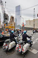 NYPD motorbikes in New York October 2008
