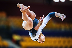 October 28, 2018 - Doha, Quatar - Elsabeth Black of  Canada   during  Floor qualification at the Aspire Dome in Doha, Qatar, Artistic FIG Gymnastics World Championships on 28 of October 2018. (Credit Image: © Ulrik Pedersen/NurPhoto via ZUMA Press)
