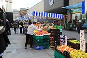 Fresh fruit and vegetable market stall, Moore Street, Dublin city centre, Ireland, Republic of Ireland