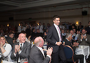 Cammy Kerry is applauded as he goes up to be awarded the Isobel Sneddon trophy for Dundee FC young player of the year  - DSA Dundee FC player of the year dinner<br /> <br />  - &copy; David Young - www.davidyoungphoto.co.uk - email: davidyoungphoto@gmail.com
