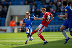 Tom Lapslie of Colchester United & Rory Gaffney of Walsall battles for possession - Mandatory by-line: Phil Chaplin/JMP - 07/09/2019 - FOOTBALL - JobServe Community Stadium - Colchester, England - Colchester United v Walsall - Sky Bet League Two