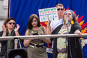 Zita Holbourne speaking on behalf of PCS at  The People's Assembly & Stand up to Racism demo, Central London. Saturday the 16th of July 2016.