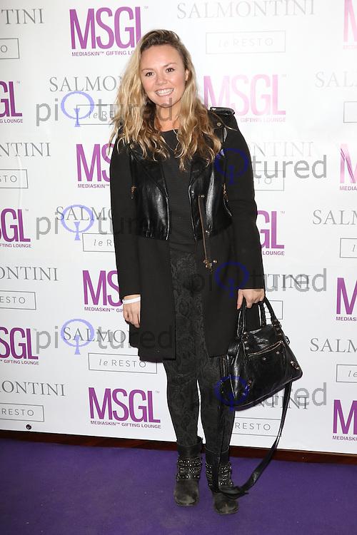 Charlie Brooks, MediaSkin Gifting Lounge, Salmontini Le Resto, London UK, 19 January 2015, Photo by Richard Goldschmidt