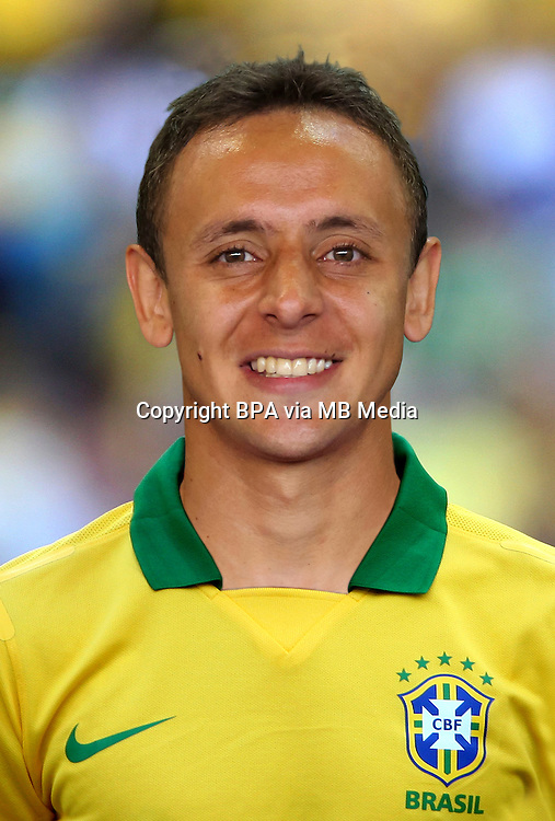 Football Fifa Brazil 2014 World Cup / <br /> Brazil National Team - <br /> Marcio Rafael Ferreira de Souza &quot; Rafinha &quot; of Brazil