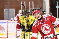 2019-12-08 | Ljungby, Sweden: Troja-Ljungby (72) Sebastian Hansson after Vimmerby scored 2-2 during the game between IF Troja / Ljungby and Vimmerby HC at Ljungby Arena ( Photo by: Fredrik Sten | Swe Press Photo )<br /> <br /> Keywords: Ljungby, Icehockey, HockeyEttan, Ljungby Arena, IF Troja / Ljungby, Vimmerby HC, fstv191208, ATG HockeyEttan
