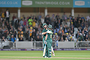 Six for Steven Mullaney during the NatWest T20 Blast Quarter Final match between Notts Outlaws and Somerset County Cricket Club at Trent Bridge, West Bridgford, United Kingdom on 24 August 2017. Photo by Simon Trafford.
