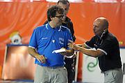 DESCRIZIONE : Folgaria Allenamento Raduno Collegiale Nazionale Italia Maschile <br /> GIOCATORE : Luca Dalmonte Mario Fioretti<br /> CATEGORIA : coach<br /> SQUADRA : Nazionale Italia <br /> EVENTO :  Allenamento Raduno Folgaria<br /> GARA : Allenamento<br /> DATA : 20/07/2012 <br /> SPORT : Pallacanestro<br /> AUTORE : Agenzia Ciamillo-Castoria/GiulioCiamillo<br /> Galleria : FIP Nazionali 2012<br /> Fotonotizia : Folgaria Allenamento Raduno Collegiale Nazionale Italia Maschile <br />  Predefinita :