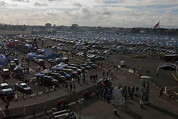 Nov 6, 2011; Oakland, CA, USA; General view of tailgating in the parking lot outside O.co Coliseum before the game between the Oakland Raiders and the Denver Broncos. Mandatory Credit: Jason O. Watson-US PRESSWIRE