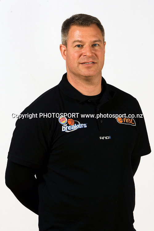Assistant coach Dean Vickerman, New Zealand Breakers headshots for the 2010 ANBL basketball season. Breakers Gym, North Shore, Auckland. 24 September 2010. Photo: William Booth/photosport.co.nz