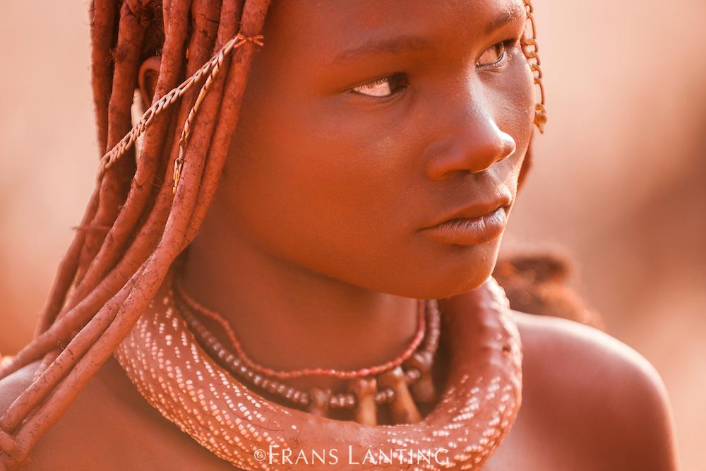 Young Himba woman, Kaokoland, Namibia