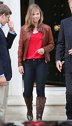 Baroness Thatcher's granddaughter Amanda  leaving the former Prime Minister's  house in London, Monday 15th April 2013 Photo by: Stephen Lock / i-Images