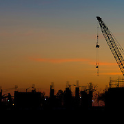 Construction Site Sunset in Baltimore Maryland Please select Shopping Cart Below to Purchase prints and gallery-wrapped canvases, magnets, t-shirts and other accessories