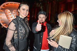 EMMA MILLER and BEN THATCHER at the Warner Music Group & Ciroc Vodka Brit Awards After Party held at The Freemason's Hall, 60 Great Queen St, London on 24th February 2016.