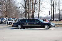 President Obama on his way to the airport after the graduation.