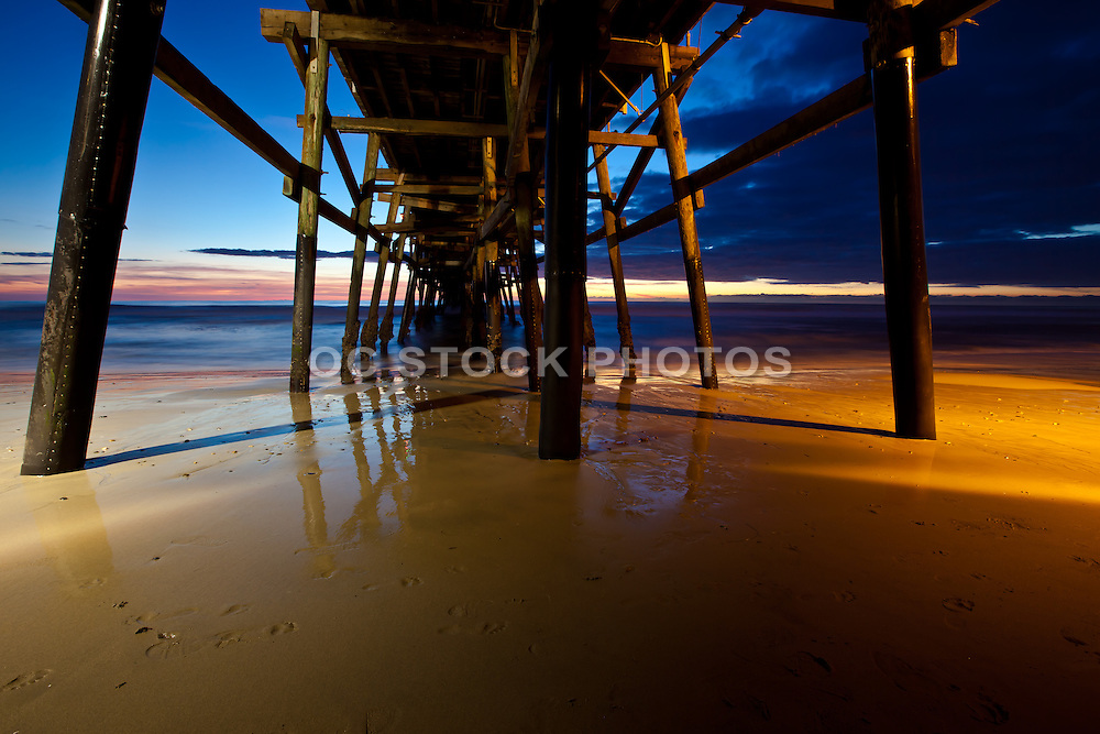 Reflections under the San Clemente Pier