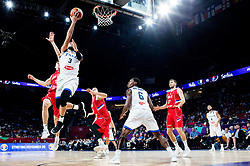 Dragan Milosavljevic of Serbia vs Marco Belinelli of Italy during basketball match between National Teams of Italy and Serbia at Day 14 in Round of 16 of the FIBA EuroBasket 2017 at Sinan Erdem Dome in Istanbul, Turkey on September 13, 2017. Photo by Vid Ponikvar / Sportida