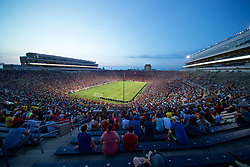 SOUTH BEND, INDIANA, USA - Friday, July 19, 2019: 40,361 supporters attend a friendly match between Liverpool FC and Borussia Dortmund at the Notre Dame Stadium on day four of the club's pre-season tour of America. (Pic by David Rawcliffe/Propaganda)