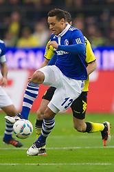 26.11.2011, Signal Iduna Park, Dortmund, GER, 1. FBL, Borussia Dortmund vs FC Schalke 04, im Bild Zweikampf Jermaine Jones (#13 Schalke) - Sebastian Kehl (#5 Dortmund) // during Borussia Dortmund vs. FC Schalke 04 at Signal Iduna Park, Dortmund, GER, 2011-11-26. EXPA Pictures © 2011, PhotoCredit: EXPA/ nph/ Kurth..***** ATTENTION - OUT OF GER, CRO *****