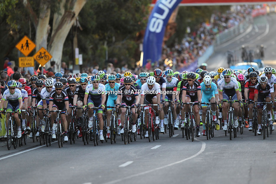 peloton - 18.01. ADELAIDE,  Tour Down Under Australia 2015, Cycling, road race, Radrennen, Australien -  Radsport - Rad Rennen -<br /> - fee liable image: copyright &copy; ATP - TDA