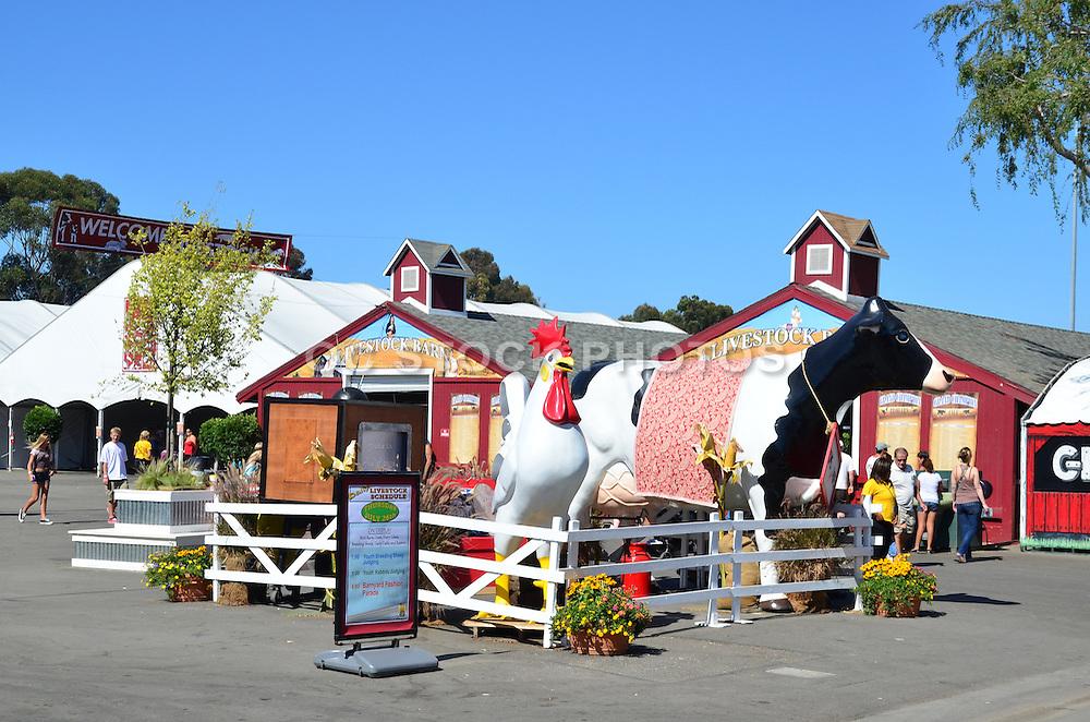 Livestock Area At The OC Fairgrounds In Costa Mesa California