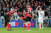 Deception GUINGAMP Moustapha DIALLO et Christophe KERBRAT  - 08.03.2015 -  Guingamp / Lille -  28eme journee de Ligue 1 <br />Photo : Vincent Michel / Icon Sport