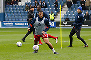 Birmingham City midfielder David Davis (26) warms up before kick off during the EFL Sky Bet Championship match between Queens Park Rangers and Birmingham City at the Loftus Road Stadium, London, England on 28 April 2018. Picture by Andy Walter.
