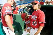 6/25/08 Omaha, NEB..Kris Tomlinson of Fresno state at the College World Series.Michelle BishopMinorwhite Studios