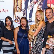 NLD/Amsterdam/20180820 - Premiere Dog Days, Nicolette Kluijver en hondje Mimi en partner Joost Staudt met hun nanny's