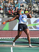 Andressa de Morais (BRA) places second in the women's discus at 212-1 (64.65m) in the 43nd Memorial Van Damme in an IAAF Diamond League meet at King Baudouin Stadium in Brussels, Belgium on Friday,August 31, 2018. (Jiro Mochizuki/Image of Sport)