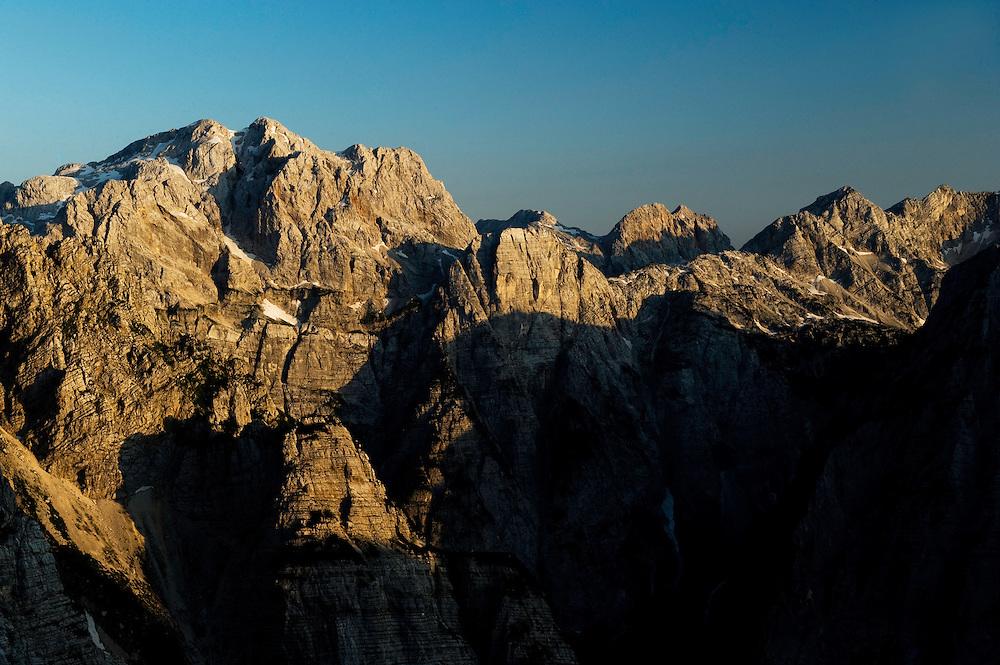Julian Alps, view from Pogacnikov dom<br /> Triglav National Park, Slovenia<br /> July 2009