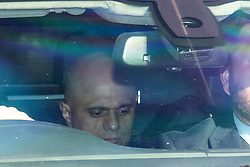 © Licensed to London News Pictures. 23/05/2019. London, UK. Home Secretary Sajid Javid is seen leaving Parliament by car. Photo credit: Rob Pinney/LNP