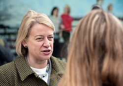 © Licensed to London News Pictures.  06/05/2015. Bristol, UK.  Picture of Natalie Bennett, leader of the Green Party campaigning in the Bristol West seat.  Author and Food Poverty Campaigner, Jack Monroe, came to Bristol West to support Green Party PPC Darren Hall in one of the Green Party's key target constituencies. Monroe met Hall alongside Green Party Leader, Natalie Bennett.  Photo credit : Simon Chapman/LNP