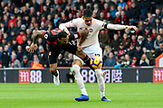 Callum Wilson (13) of AFC Bournemouth battles for possession with Chris Smalling (12) of Manchester United during the Premier League match between Bournemouth and Manchester United at the Vitality Stadium, Bournemouth, England on 3 November 2018.