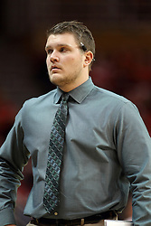 29 December 2014:  Adam Notteboom during an NCAA non-conference interdivisional exhibition game between the Quincy University Hawks and the Illinois State University Redbirds at Redbird Arena in Normal Illinois.