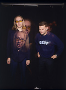 The Chemical Brothers, in a 1999 photo shoot at the famous Chateau Marmont hotel in West Hollywood.