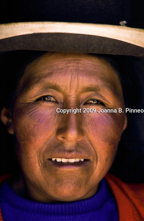 Bolivia: Portrait of a Bolivian Woman near La Paz. Aurora Image 1880109501.JPG