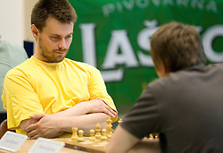 Jan Gombac in action during the Slovenian National Chess Championships in Ljubljana on August 9, 2010.  (Photo by Vid Ponikvar / Sportida)